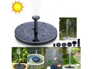 TROPRO Solar Powered Water Fountain Pump, Submersible Outdoor Water Fountain Panel Kit for Bird Bath,Small Pond,Pool,Garden and Lawn (1.5W)