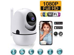1080P Security Camera, HM203 UG WiFi Home Indoor Camera with Smart Night Vision/2 Way Audio/Motion Detection, Wireless IP Dog Camera for Baby/Pet/Nanny Monitor, Cloud/MicroSD Support