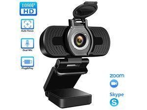 TROPRO Webcam for PC, 1080P Full HD Web Camera with Microphone for Desktop Mac Smart TV, with USB Plug, Compatible for Win10/8/8.1/7/XP Linux for Skype, Streaming, Teleconference, Video Chat