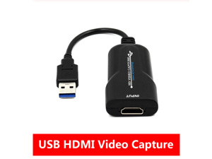 HDMI Capture, HDMI to USB, Full HD 1080P Live Video Capture Game Capture Recording Box, HDMI USB Adapter Video and Audio Grabber for Windows, Mac OS and Linus System-Black