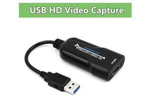 Wiistar Audio Video Capture Cards HDMI to USB 1080p USB 2.0 Record via DSLR Camcorder Action Cam for High Definition Acquisition, Live Broadcasting