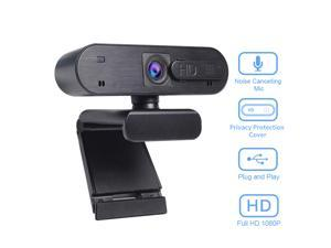 AutoFocus Full HD Webcam 1080P with Privacy Shutter - Pro Web Camera with stereo Microphone - USB Computer Camera for PC Laptop Desktop Mac Video Calling, Conferencing Skype YouTube