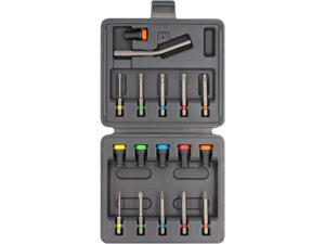 Magnet Driver Set 17 Screw-Holder by Micaton | Magnetic Screwdriver Attachment for Hand Tools or Power Bits