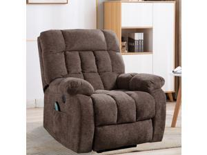 CANMOV Power Lift Recliner for Elderly Massage Recliner Chair with Heat & Vibration Heavy Duty and Safety Motion Reclining Mechanism-Antiskid Fabric Sofa Power Lift Chair with USB Port