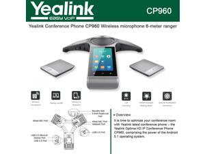 Yealink CP960 Conference Wireless microphone Pairing via USB and Bluetooth Without Microphones