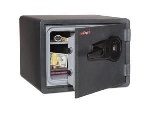 FireKing - KY0913-1GRFL - One Hour Fire and Water Safe w/Biometric Fingerprint Lock, 0.85 cu. ft, Graphite