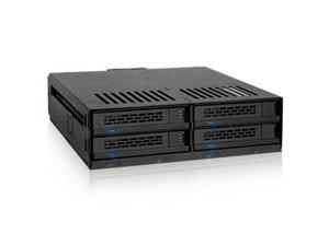 ICY DOCK Removable Storage MB324SP-B 4Bay 2.5inch SAS/SATA HDD/SSD H ot Swap Mobile Rack for Single 5.25inch Bay Retail