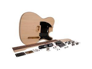 Seismic Audio - SADIYG-03 - Premium DIY Tele Style Electric Guitar Kit - Unfinished Luthier Project Guitar Kit