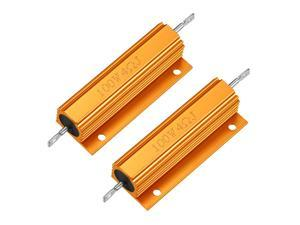 Global Bargains 2pcs Aluminum Shell Resistor 100W 4 Ohm Wirewound for LED Replacement Converter