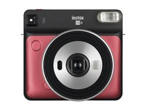 Fuji Film 16608701 SQ6 Rudy Instant Camera, Red