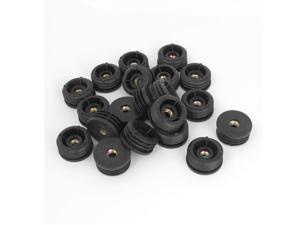 Global Bargains Furniture 7mmx32mm Screw Type Round Threaded Tubing Insert Caps Covers 20 Pcs