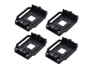 4pcs Plastic CPU Fan Bracket Base Socket Black for AMD AM2 AM3 AM2+ AM3+