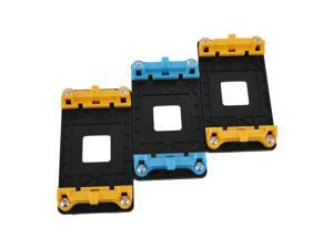 CPU Fan Mount Bracket Holder Base Yellow Blue 3pcs for AMD AM2 AM2+ AM3 AM3+ FM1