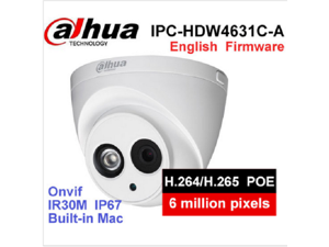 Dahua POE 6MP IP Camera IPC-HDW4631C-A IR 30m H.265 Built-in MIC IP67 Onvif