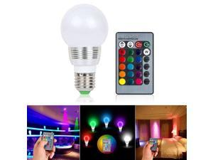 E27 RGB LED Lamp 3W 16 Colors Changing Magic Night Light Bulb IR Remote Control