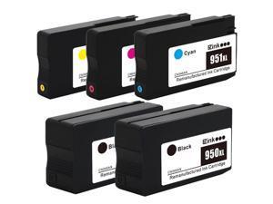 5PK HP 950XL 951XL Ink Cartridges For Officejet