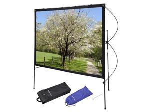 """Instahibit® 77"""" Portable Projector Screen w/ Foldable Frame Stand Outdoor Home Movie"""