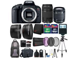 Canon EOS Rebel T7i 24.2MP DSLR Camera with 18-55mm Lens , 75-300mm Lens , Canon 100ES Camera Case and 24GB Ultimate Accessory Kit