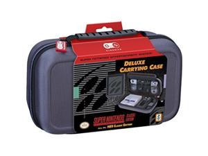 nintendo snes classic and nes classic deluxe travel case  hard case with ballistic nylon exterior, holds nintendo snes or nes classic systems, ac adapter, power cord, both controllers and hdmi cable