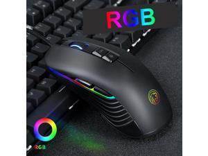 5be6ed3e86e NEW F600 RGB LED Backlit Wired USB 4000DPI Optical Ergonomic Gamer Gaming  Mouse