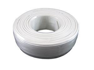 Round Phone Cable - Tupavco TP801 - 300ft White Roll (100 M - 328 ft) 4X1/0.4 Reel Telephone Cord