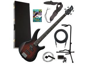 Yamaha TRBX174 Electric Bass Guitar - Old Violin Sunburst COMPLETE BASS BUNDLE