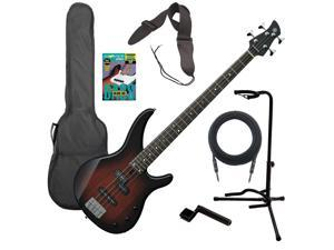 Yamaha TRBX174 Electric Bass Guitar - Old Violin Sunburst BASS ESSENTIALS BUNDLE