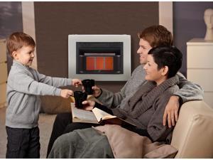 Cedar Ridge Hearth Dual Fuel Ventless Infrared Heater Model# CH3TPU - 3 Plaque, 20,000 BTU, T-Stat Control