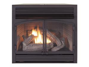 Duluth Forge Dual Fuel Ventless Fireplace Insert - 32,000 BTU, T-Stat Control Model FDF400T-ZC