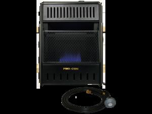 ProCom Liquid Propane Ventless Ice House Heater - 10,000 BTU, T-Stat, Model# ML100TBAHR
