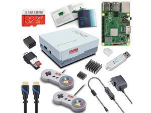 Vilros Raspberry Pi 3 Model B+ (B Plus) Retro Arcade Gaming Kit with 2 Classic USB Gamepads
