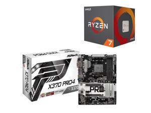 AMD Ryzen 7 1700 8-Core Desktop Processor with Wraith Spire LED Cooler + ASRock Motherboard