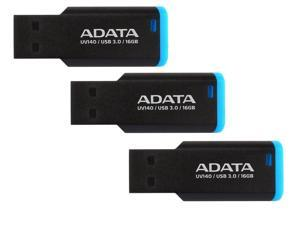 3-Pack ADATA AUV140-16G-RBE 16GB USB 3.0 Flash Drive