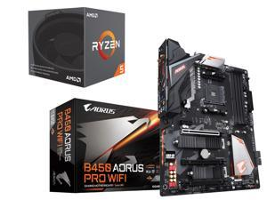 AMD RYZEN 5 2600 6-Core 3.4 GHz (3.9 GHz Max Boost) Desktop Processor, GIGABYTE B450 AORUS PRO WIFI (rev. 1.0) AM4 AMD