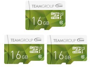 3 Pk. Team Group TCUSDH16GUHS43 16GB MicroSDHC Card