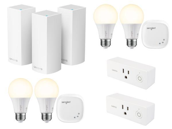 3-Pack Linksys Velop Tri-band AC6600 Whole Home WiFi Mesh System (White) + 2 Pk. Sengled Element Starter Kit + 2 Pk. Wemo Mini Smart Plug + $50 Newegg Gift Card