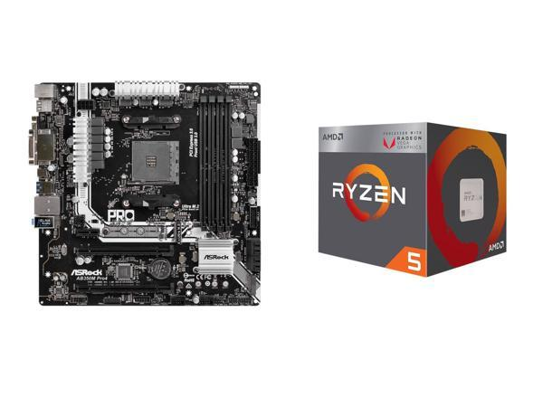 AMD Ryzen 5 Quad Core 3.60 GHz Processor + ASRock AMD Motherboard