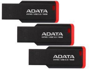 3-Pack ADATA UV140 16GB USB 3.0 Flash Drive (Red)