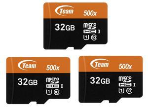 3 Pack Team TUSDH32GUHS03 32GB Class 10 533x MicroSDHC Memory Card