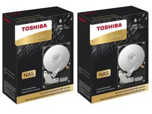 "2 Pack Toshiba N300 3.5"" 6TB Internal Hard Drive"
