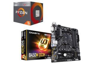AMD RYZEN 5 2400G Quad-Core 3.6 GHz (3.9 GHz Turbo), GIGABYTE B450M DS3H AM4 AMD B450