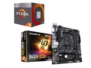 AMD RYZEN 3 2200G Quad-Core 3 5 GHz (3 7 GHz Turbo), GIGABYTE B450M DS3H  AM4 AMD B450