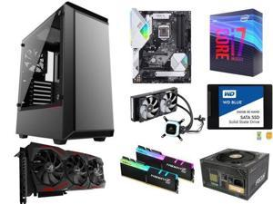 Intel Core i7-9700K Coffee Lake 8-Core 3 6 GHz, ASUS Prime Z390-A, G SKILL  TridentZ RGB Series 16GB, WD 500GB PC SSD, Phanteks Eclipse P300 Case,