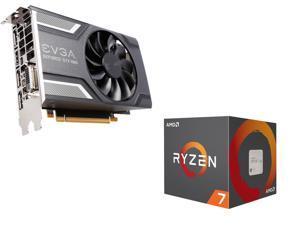 AMD RYZEN 7 2700 8-Core 3 2 GHz (4 1 GHz Max Boost), EVGA GeForce GTX 1060  SC GAMING ACX 2 0 (Single Fan) 6GB GDDR5 DX12 OSD Support (PXOC)
