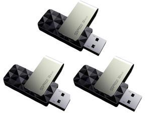 3-Pack Silicon Power Blaze B30 32GB USB 3.0 Flash Drive