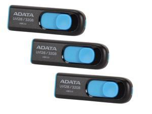 3-Pack Adata UV128 32GB USB 3.0 Flash Drive