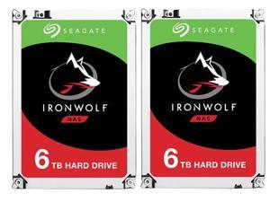 "2-Pack Seagate IronWolf 3.5"" 6TB SATA III 6Gb/s Internal Hard Drive"