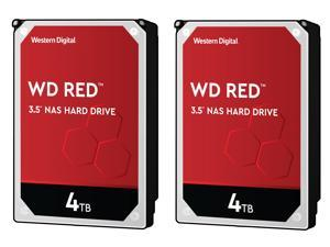 "2-Pack Western Digital WD40EFRX 3.5"" 4TB Internal Hard Drive"