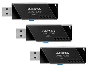 3-Pack ADATA UV330 32GB USB 3.1 Flash Drive
