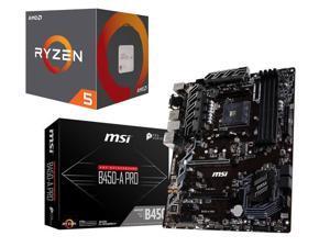 AMD Ryzen 5 2600 3.4 GHz 6-Core 16 MB Socket AM4 65W Desktop Processor + Motherboard